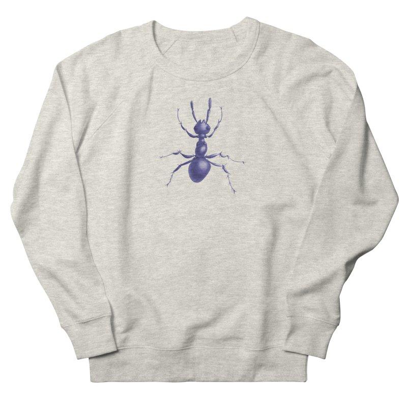 Purple Ant Digital Drawing Men's French Terry Sweatshirt by Boriana's Artist Shop
