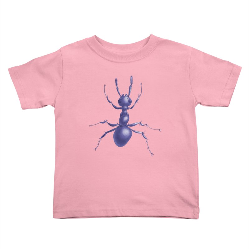 Purple Ant Digital Drawing Kids Toddler T-Shirt by Boriana's Artist Shop