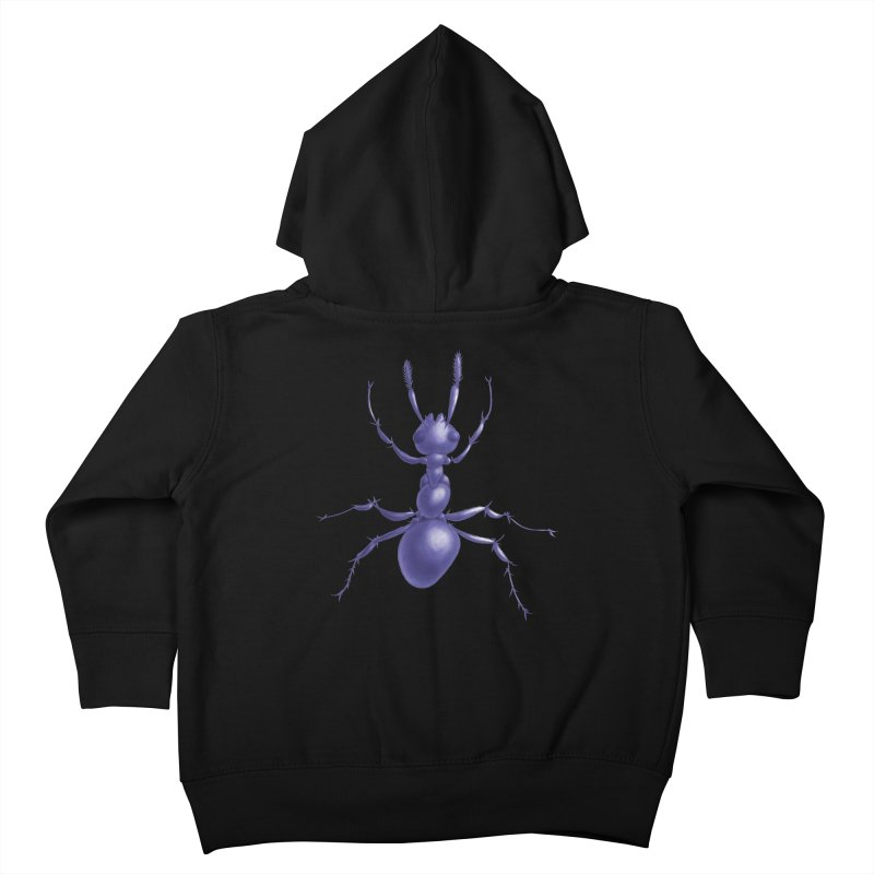 Purple Ant Digital Drawing Kids Toddler Zip-Up Hoody by Boriana's Artist Shop