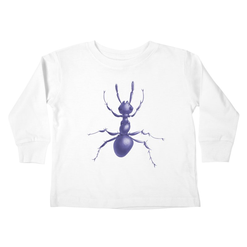 Purple Ant Digital Drawing Kids Toddler Longsleeve T-Shirt by Boriana's Artist Shop