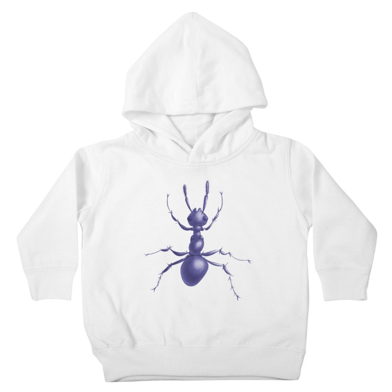 Purple Ant Digital Drawing Kids Toddler Pullover Hoody by Boriana's Artist Shop