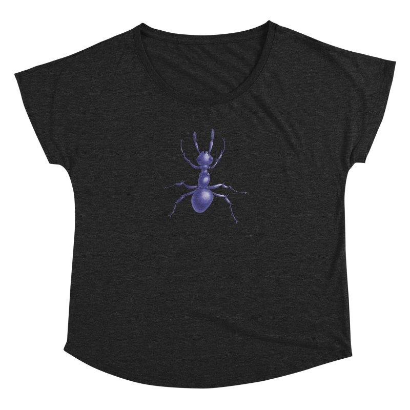 Purple Ant Digital Drawing Women's Dolman Scoop Neck by Boriana's Artist Shop