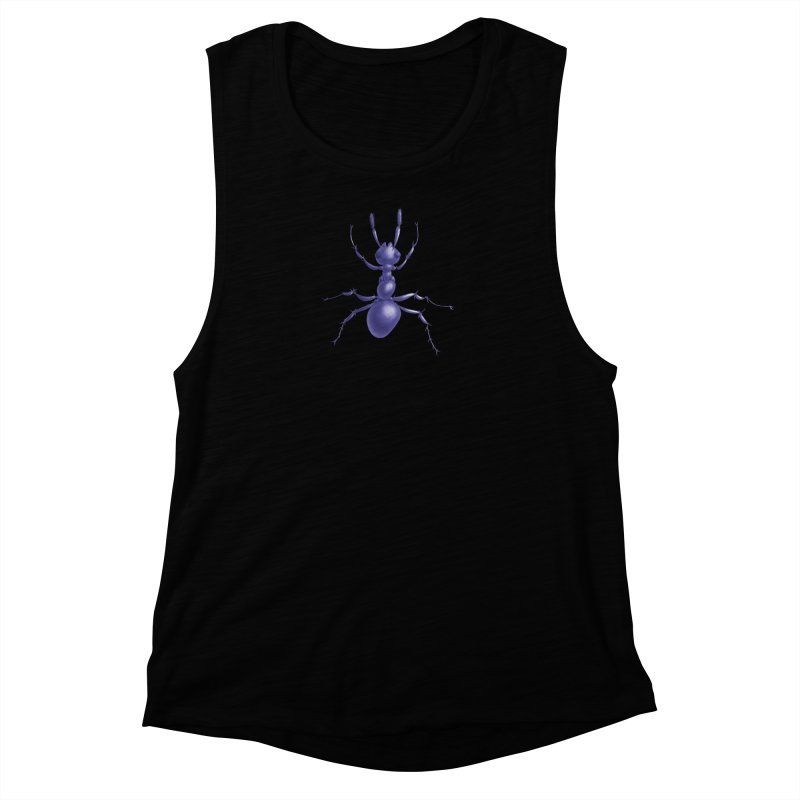 Purple Ant Digital Drawing Women's Muscle Tank by Boriana's Artist Shop