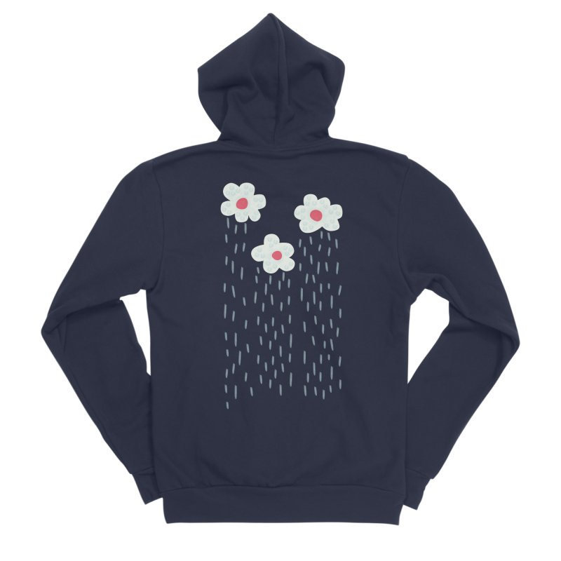 Floral Raining Clouds Women's Sponge Fleece Zip-Up Hoody by Boriana's Artist Shop