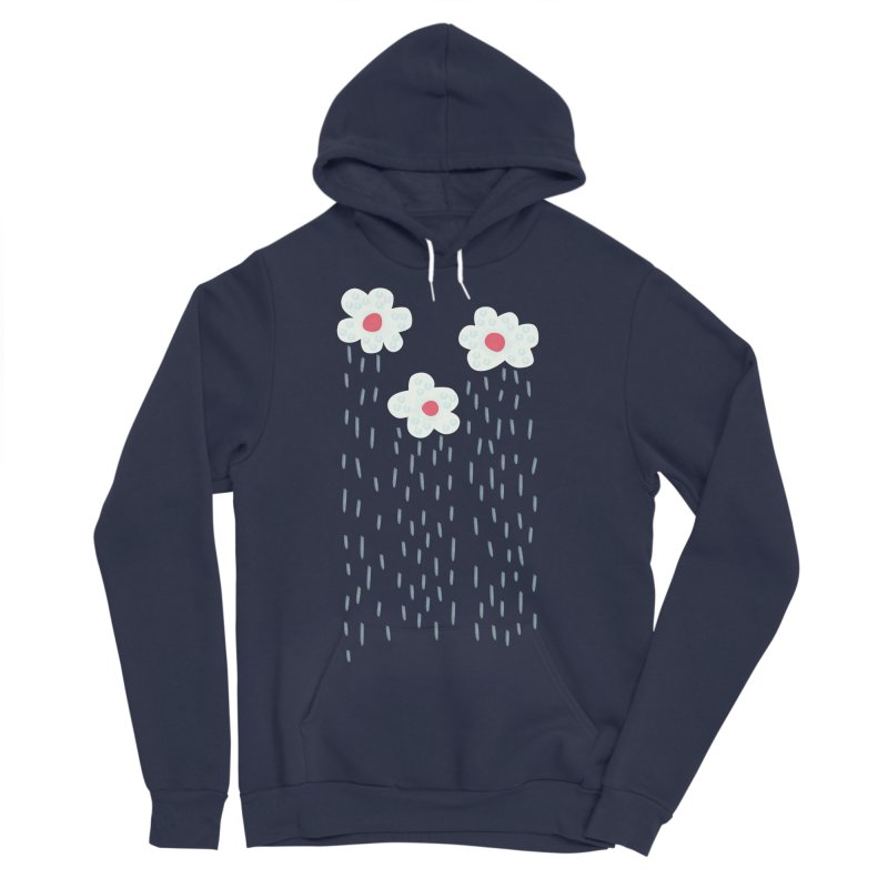 Floral Raining Clouds Men's Sponge Fleece Pullover Hoody by Boriana's Artist Shop