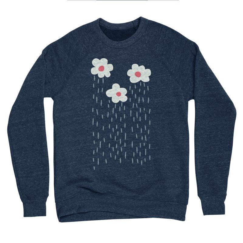 Floral Raining Clouds Men's Sponge Fleece Sweatshirt by Boriana's Artist Shop