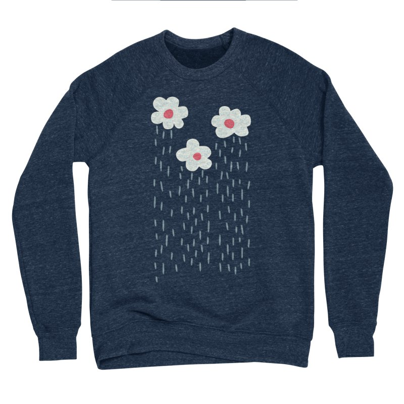 Floral Raining Clouds Women's Sponge Fleece Sweatshirt by Boriana's Artist Shop