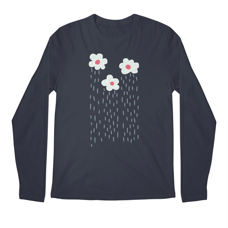 Floral Raining Clouds Men's Longsleeve T-Shirt by Boriana's Artist Shop