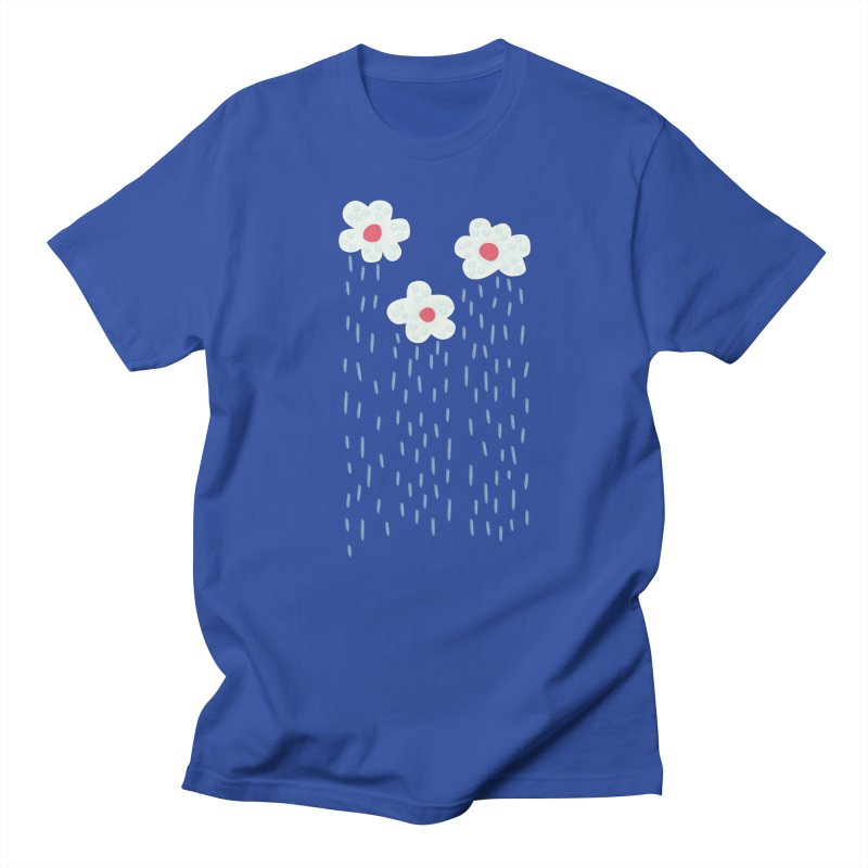 Floral Raining Clouds Men's T-Shirt by Boriana's Artist Shop
