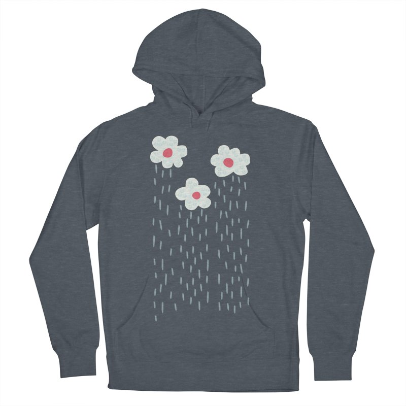 Floral Raining Clouds Men's French Terry Pullover Hoody by Boriana's Artist Shop
