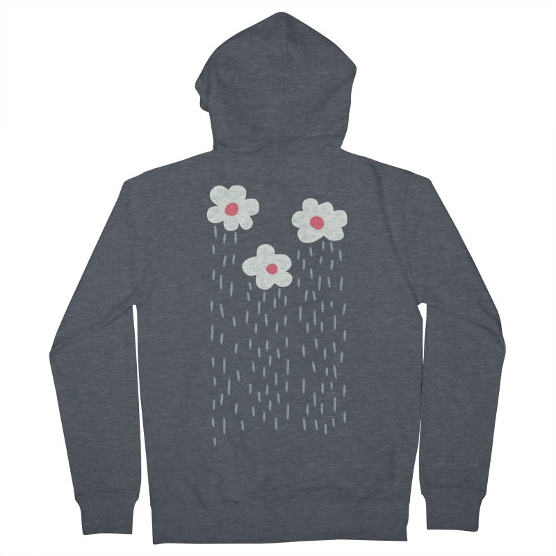 Floral Raining Clouds Women's French Terry Zip-Up Hoody by Boriana's Artist Shop