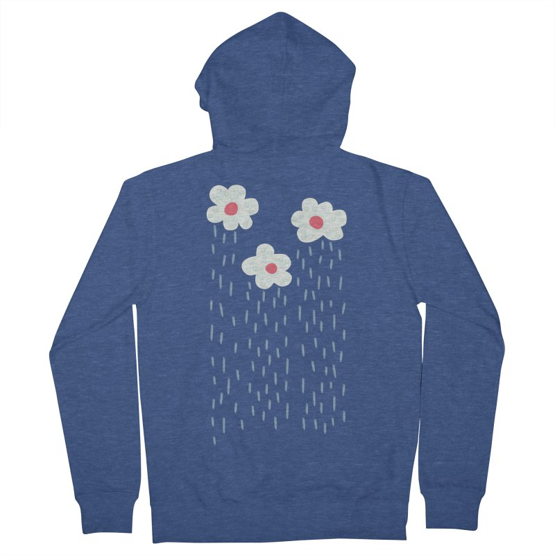 Floral Raining Clouds Men's French Terry Zip-Up Hoody by Boriana's Artist Shop