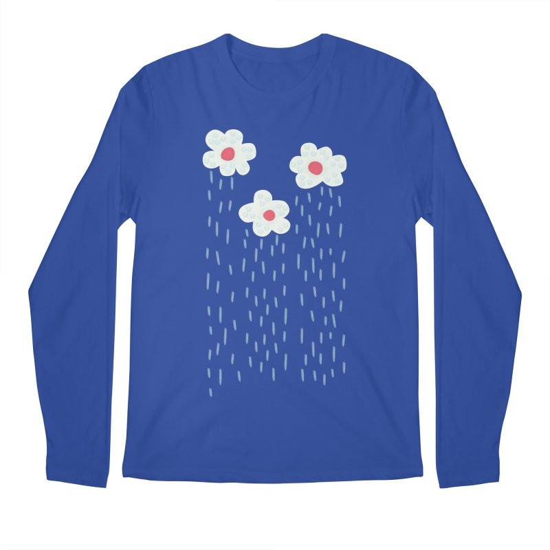 Floral Raining Clouds Men's Regular Longsleeve T-Shirt by Boriana's Artist Shop