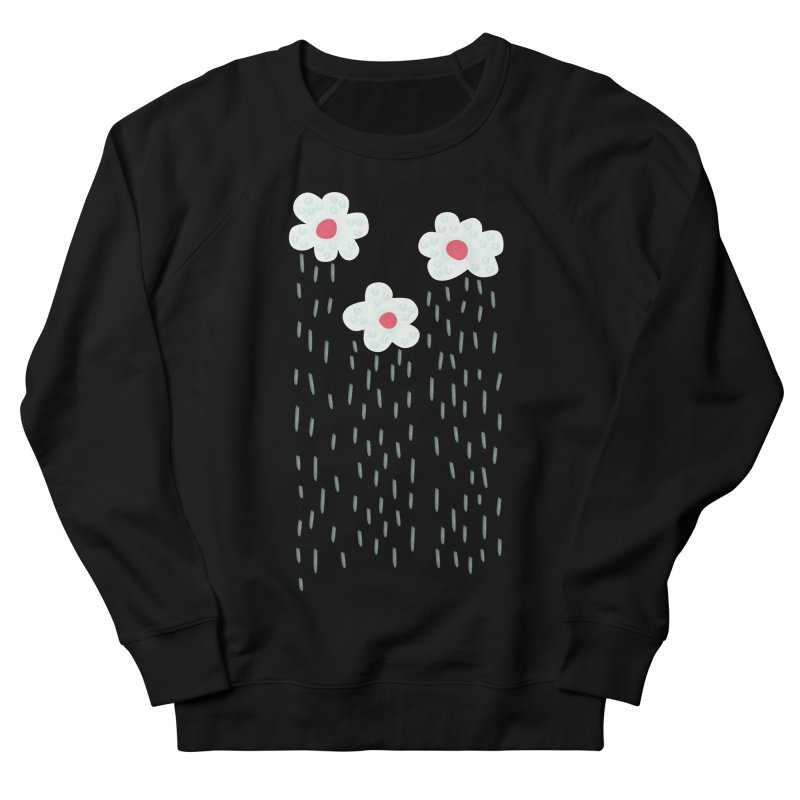 Floral Raining Clouds Men's French Terry Sweatshirt by Boriana's Artist Shop