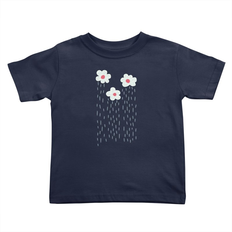Floral Raining Clouds Kids Toddler T-Shirt by Boriana's Artist Shop