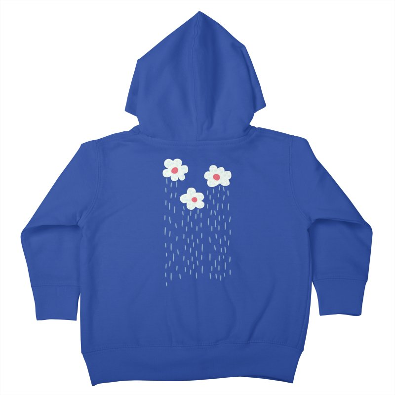 Floral Raining Clouds Kids Toddler Zip-Up Hoody by Boriana's Artist Shop