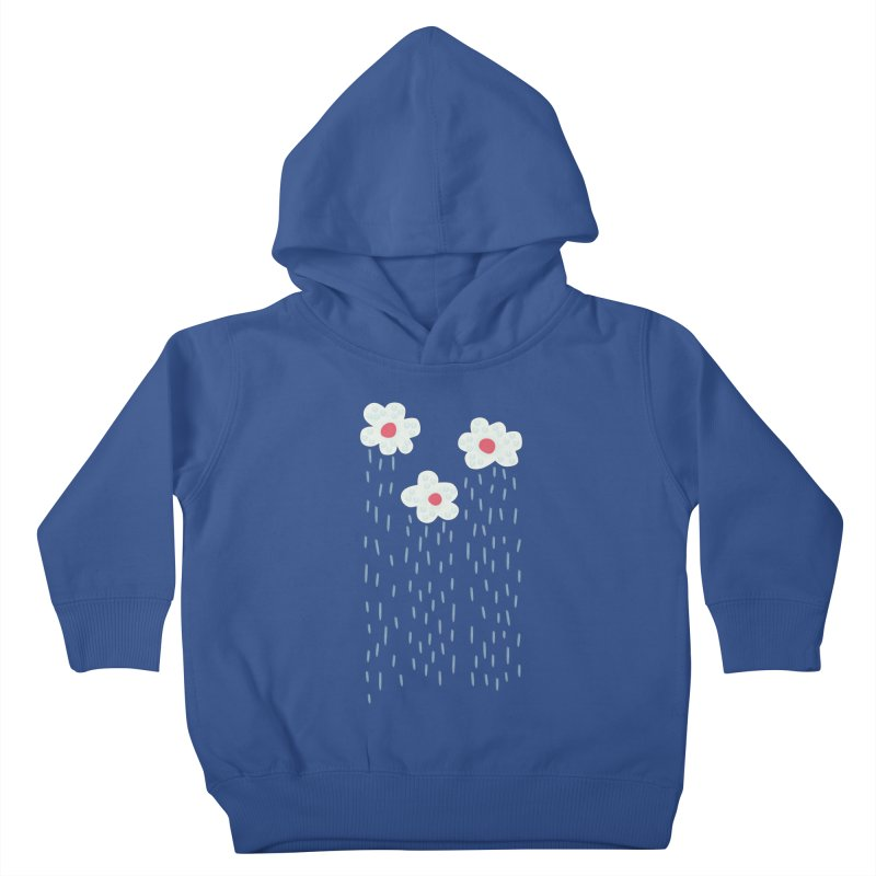 Floral Raining Clouds Kids Toddler Pullover Hoody by Boriana's Artist Shop
