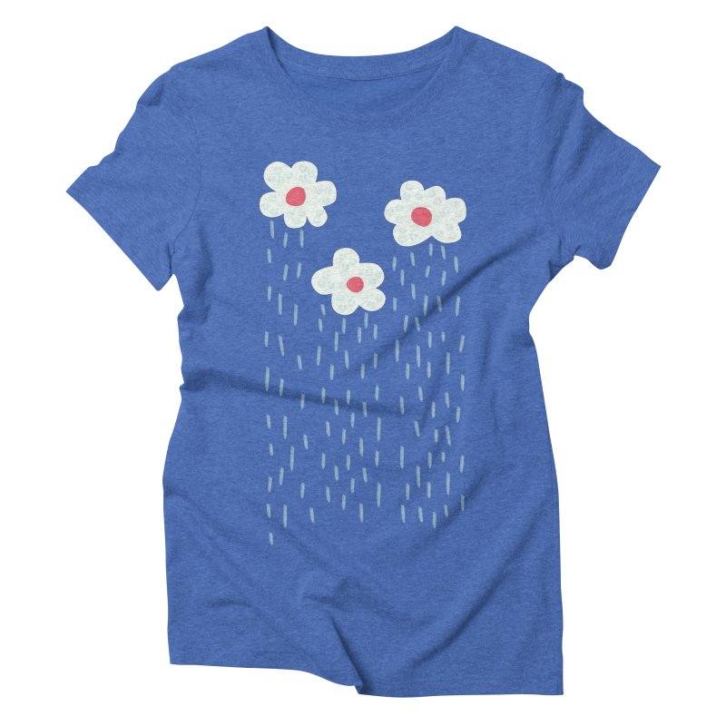 Floral Raining Clouds Women's Triblend T-Shirt by Boriana's Artist Shop