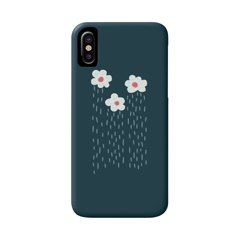 Floral Raining Clouds Accessories Phone Case by Boriana's Artist Shop