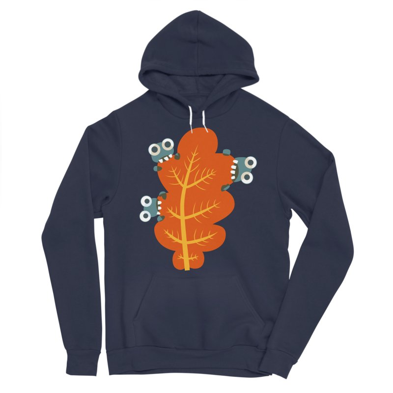 Cute Bugs Eat Autumn Leaf Women's Sponge Fleece Pullover Hoody by Boriana's Artist Shop