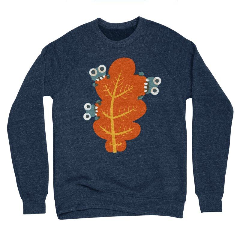 Cute Bugs Eat Autumn Leaf Men's Sponge Fleece Sweatshirt by Boriana's Artist Shop