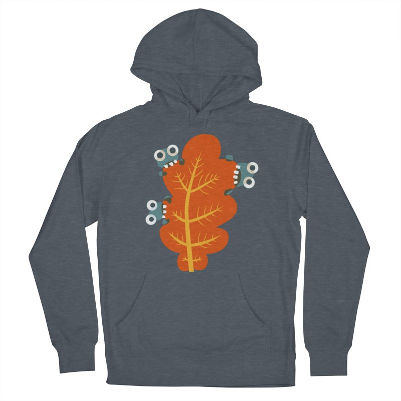 Cute Bugs Eat Autumn Leaf Women's French Terry Pullover Hoody by Boriana's Artist Shop