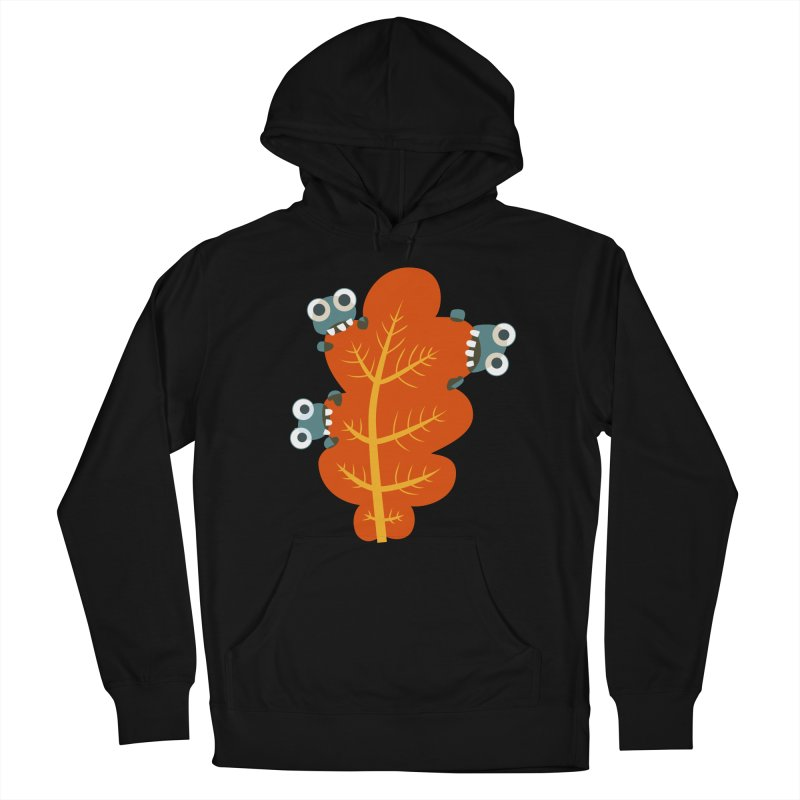 Cute Bugs Eat Autumn Leaf Men's French Terry Pullover Hoody by Boriana's Artist Shop
