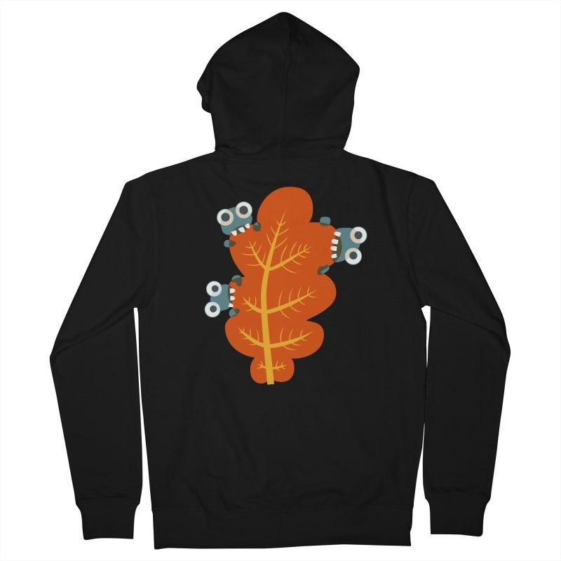 Cute Bugs Eat Autumn Leaf Women's French Terry Zip-Up Hoody by Boriana's Artist Shop