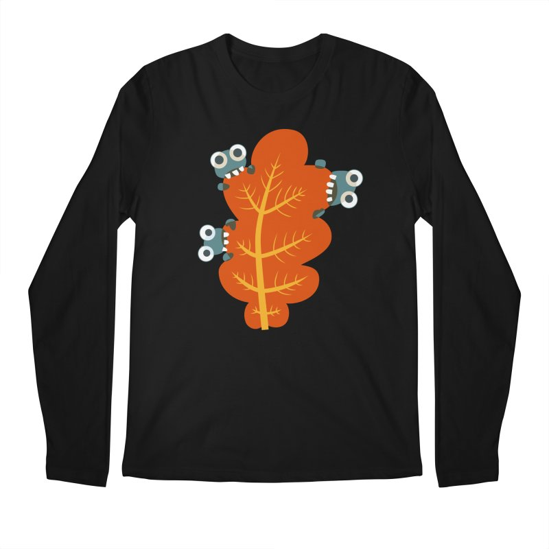 Cute Bugs Eat Autumn Leaf Men's Regular Longsleeve T-Shirt by Boriana's Artist Shop
