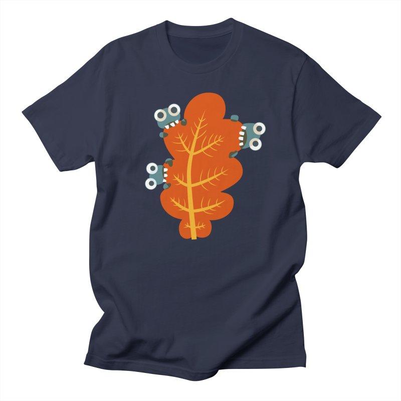 Cute Bugs Eat Autumn Leaf Men's Regular T-Shirt by Boriana's Artist Shop