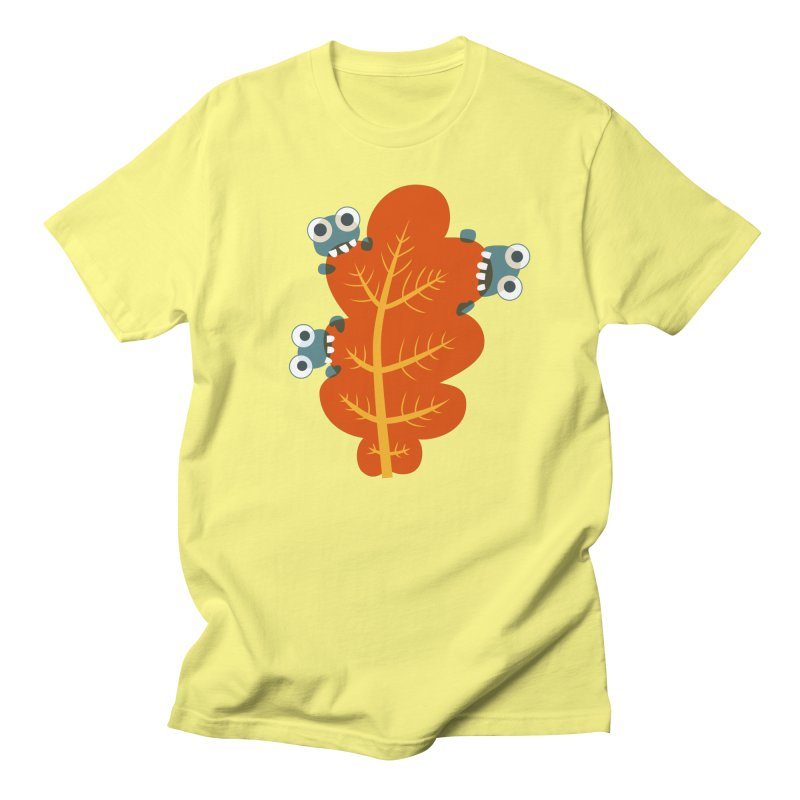 Cute Bugs Eat Autumn Leaf Women's Regular Unisex T-Shirt by Boriana's Artist Shop