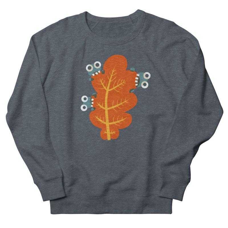 Cute Bugs Eat Autumn Leaf Women's French Terry Sweatshirt by Boriana's Artist Shop