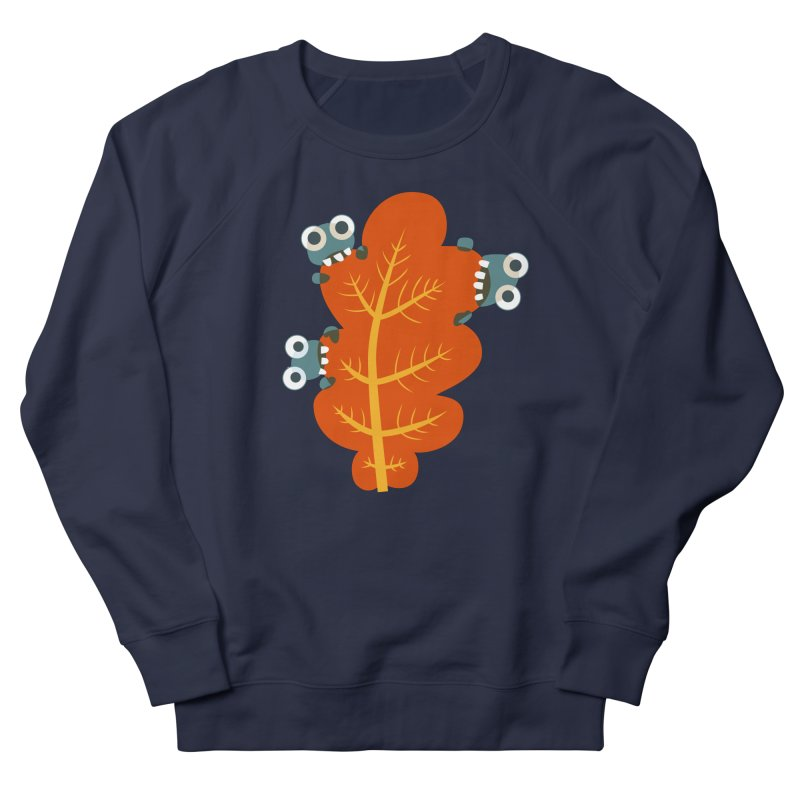 Cute Bugs Eat Autumn Leaf Women's French Terry Sweatshirt by Boriana's Artist Shop
