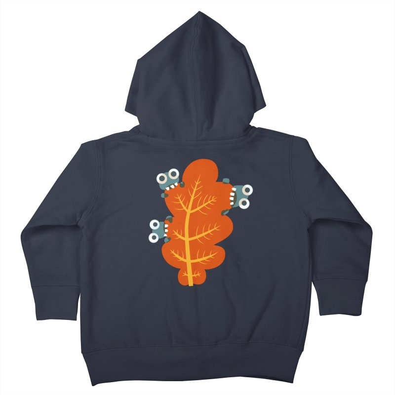 Cute Bugs Eat Autumn Leaf Kids Toddler Zip-Up Hoody by Boriana's Artist Shop