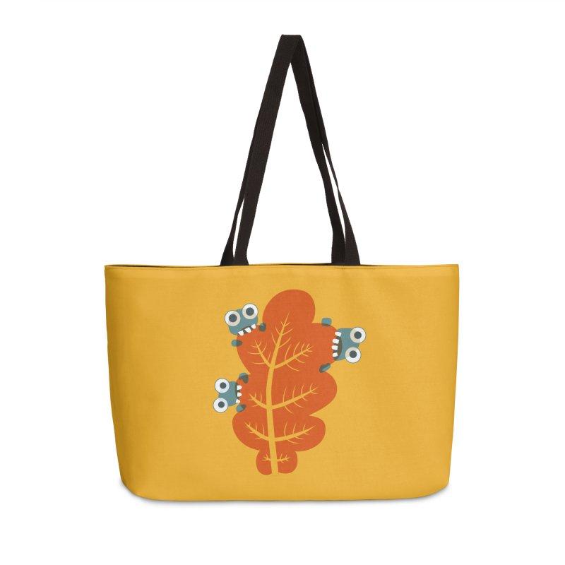 Cute Bugs Eat Autumn Leaf Accessories Weekender Bag Bag by Boriana's Artist Shop