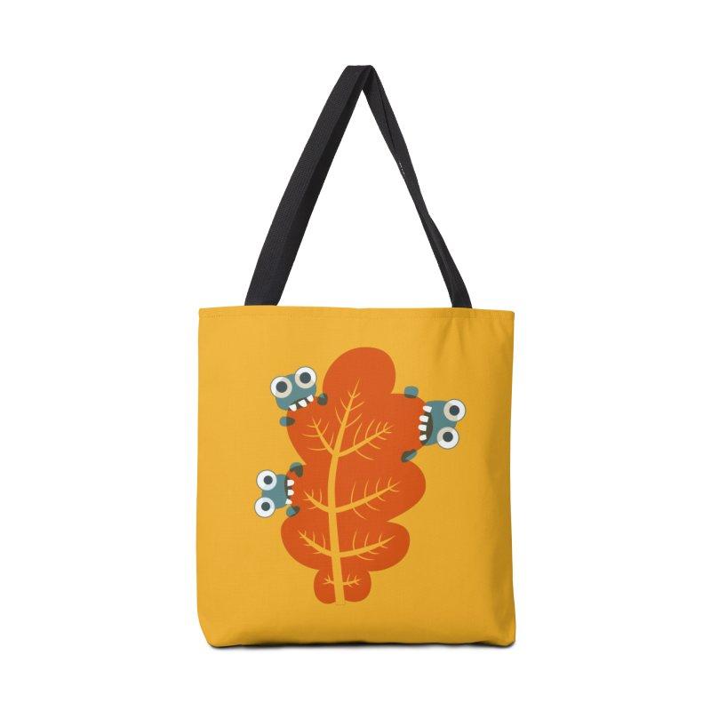 Cute Bugs Eat Autumn Leaf Accessories Tote Bag Bag by Boriana's Artist Shop