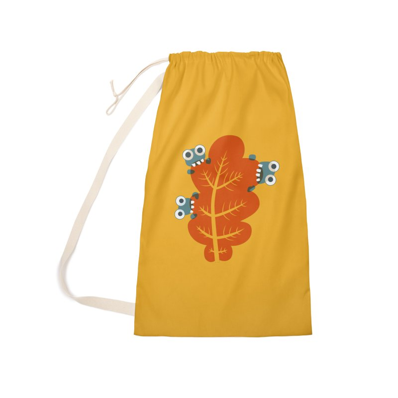 Cute Bugs Eat Autumn Leaf Accessories Laundry Bag Bag by Boriana's Artist Shop