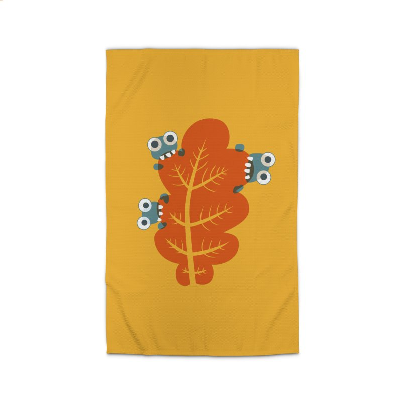Cute Bugs Eat Autumn Leaf Home Rug by Boriana's Artist Shop