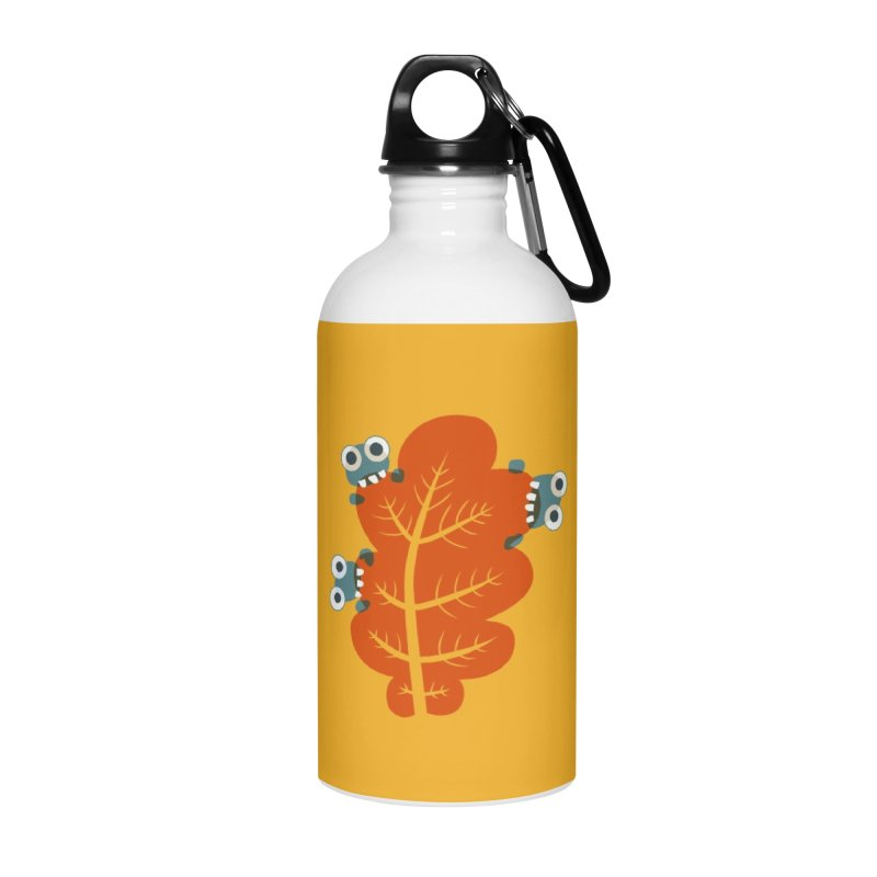 Cute Bugs Eat Autumn Leaf Accessories Water Bottle by Boriana's Artist Shop