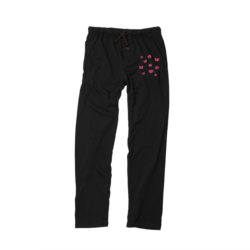 Vampire lips and fangs Men's Lounge Pants by Boriana's Artist Shop
