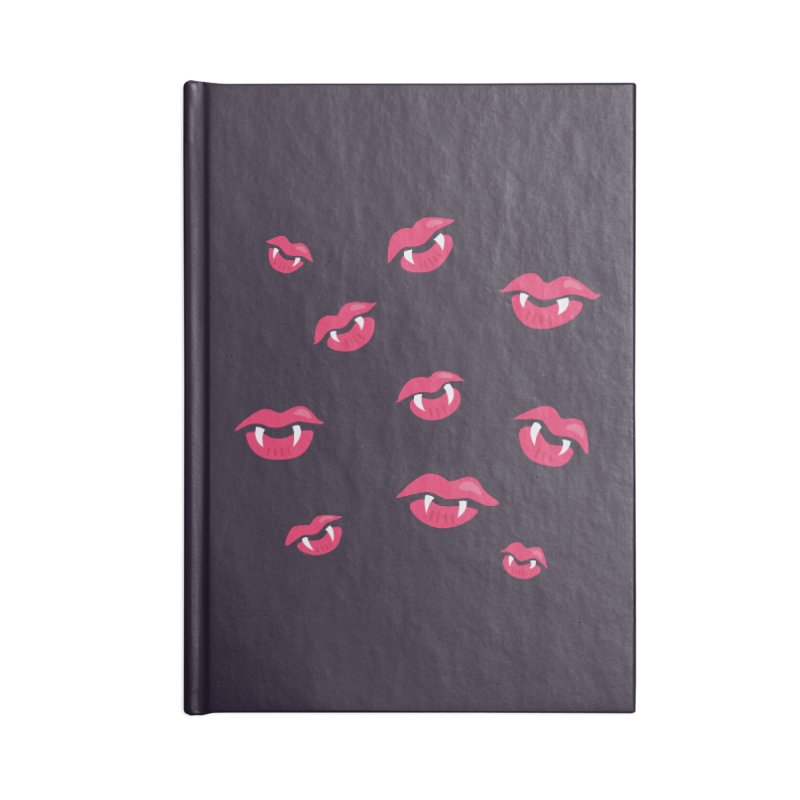 Vampire lips and fangs Accessories Lined Journal Notebook by Boriana's Artist Shop