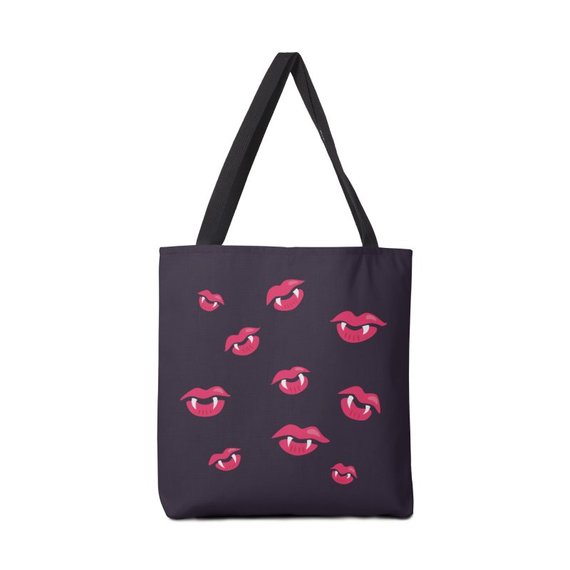 Vampire lips and fangs Accessories Bag by Boriana's Artist Shop