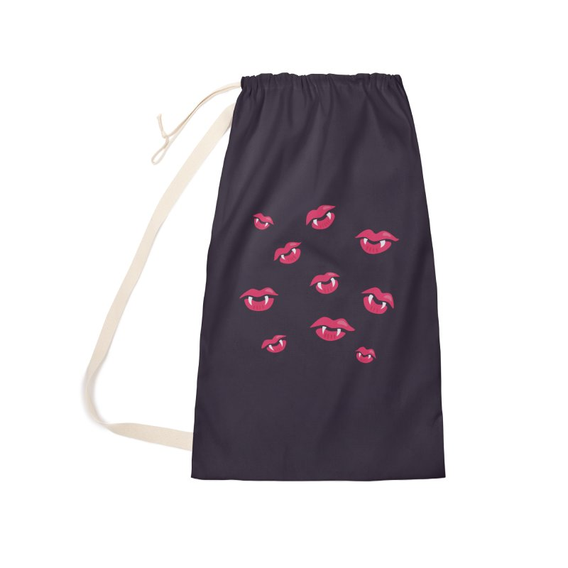 Vampire lips and fangs Accessories Laundry Bag Bag by Boriana's Artist Shop