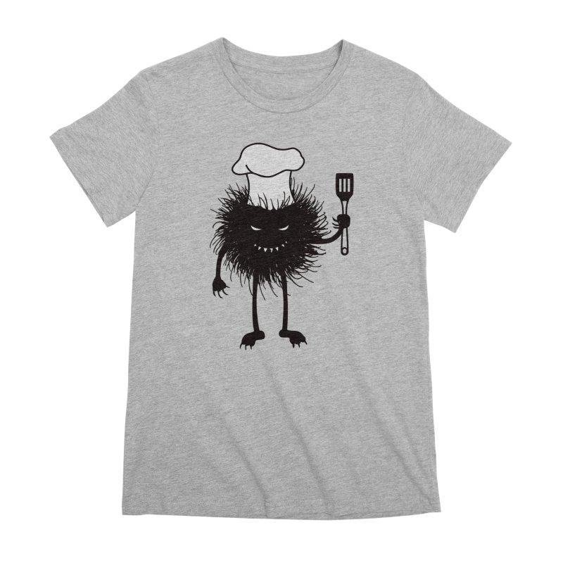 Evil bug chef loves cooking Women's Premium T-Shirt by Boriana's Artist Shop
