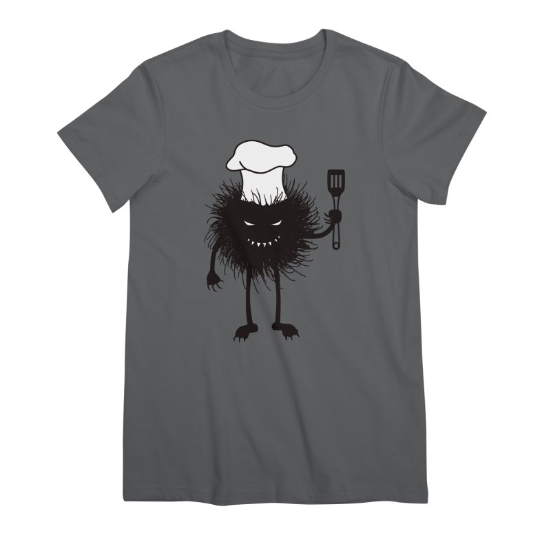 Evil bug chef loves cooking Women's Premium T-Shirt by Boriana's Artist Shop