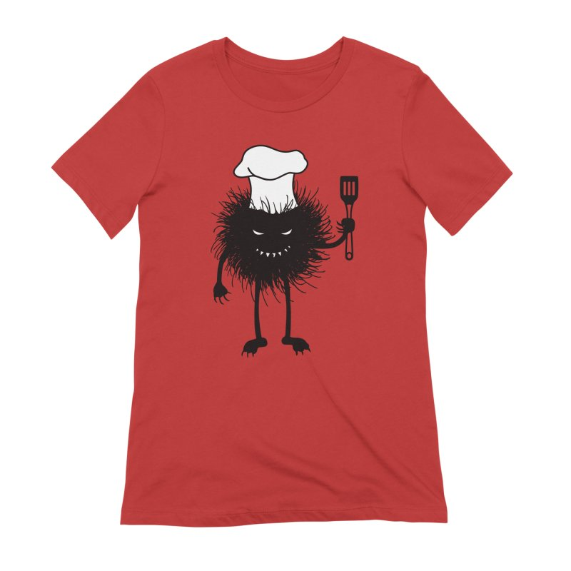 Evil bug chef loves cooking Women's Extra Soft T-Shirt by Boriana's Artist Shop