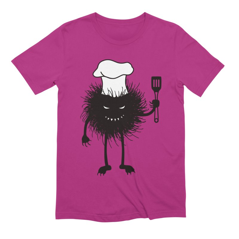 Evil bug chef loves cooking Men's Extra Soft T-Shirt by Boriana's Artist Shop