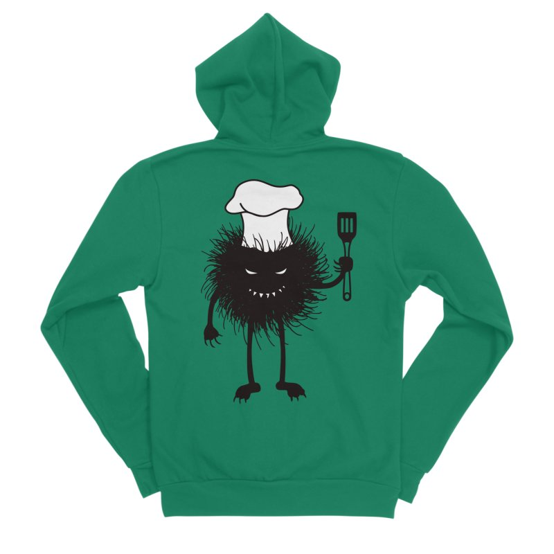 Evil bug chef loves cooking Men's Sponge Fleece Zip-Up Hoody by Boriana's Artist Shop