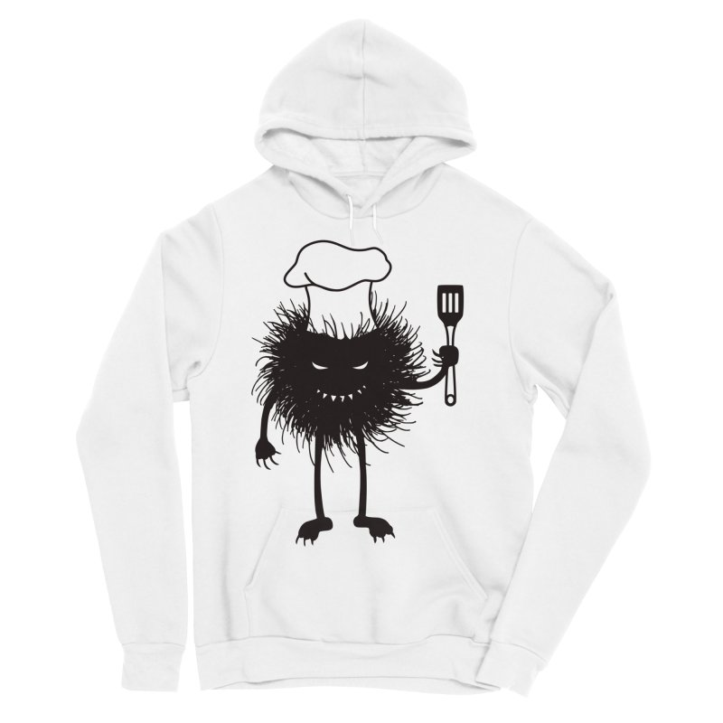 Evil bug chef loves cooking Men's Sponge Fleece Pullover Hoody by Boriana's Artist Shop
