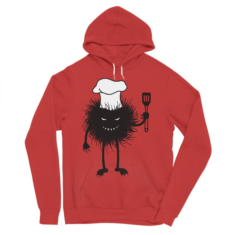 Evil bug chef loves cooking Women's Sponge Fleece Pullover Hoody by Boriana's Artist Shop